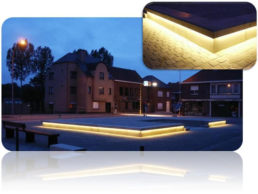 Dorpskernvernieuwing Balgerhoeke, Eeklo: Foto\'s LED-verlichting ...